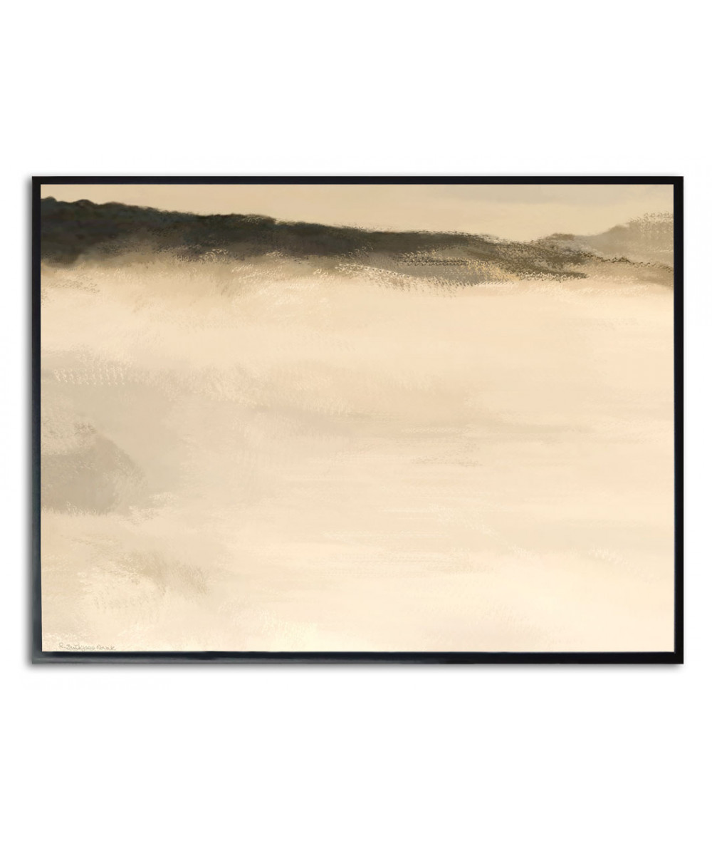 Plakat góry i chmury na ścianę Chmury