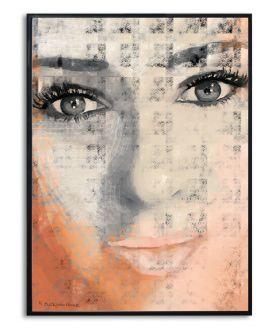 Plakat oczy twarz na ścianę Oczy dziewczyny