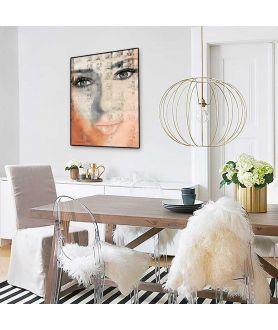 Plakat oczy twarz na ścianę Oczy dziewczyny - Grafiki Obrazy