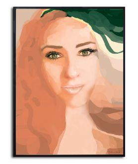 Plakat twarz kobiety Oczy Agnieszki