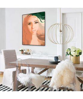 Plakat twarz kobiety Oczy Agnieszki - Grafiki Obrazy