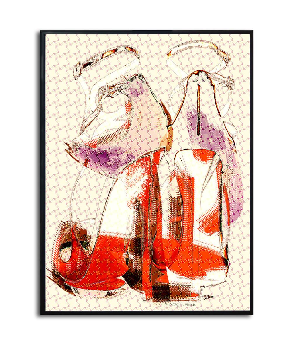 Plakat moda grafika Ognista kobieta