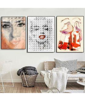 Plakaty kobieta na ścianę do salonu - Grafiki Obrazy