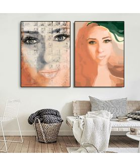 Plakaty twarze do druku - Grafiki Obrazy