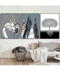 Plakaty nowoczesne zestaw do salonu - Grafiki Obrazy