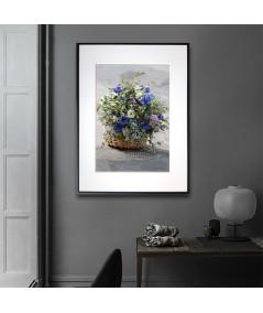 Obrazy kwiaty - Obraz Koszyk z kwiatami