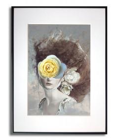 Plakat portret kobiety w ramie Dolce