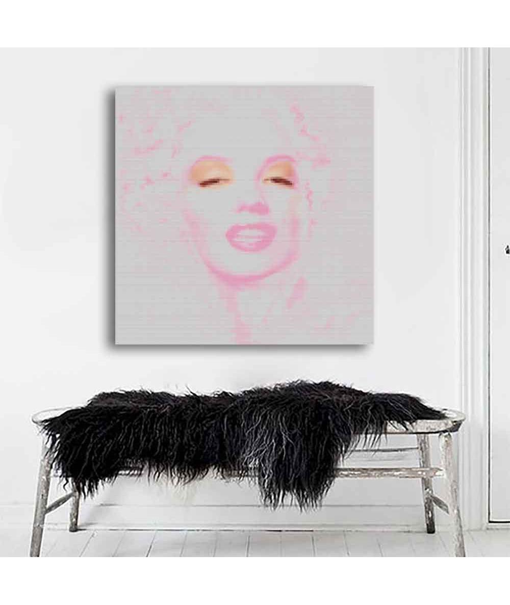 Obraz nowoczesny Marilyn Monroe pink (1-częściowy) kwadrat