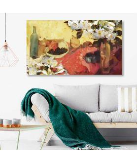 Obrazy kwiaty - Obraz na płótnie Martwa natura z liliami