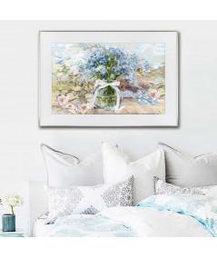 Plakat na ścianę kwiaty oprawiony w ramę decor E - GrafikiObrazy