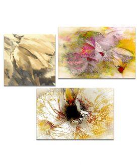 Obrazy kwiaty - Obraz Tryptyk tulipany (3-częściowy) długi