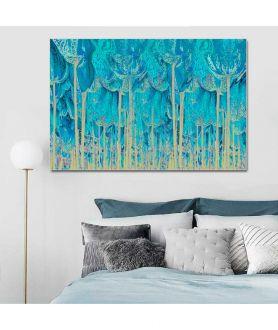 Obrazy las - Obraz Turkusowy las (1-częściowy) szeroki