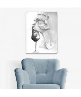 Obraz moda Plakat moda - Grafika moda Kobieta jak wino (1-częściowa) pionowa