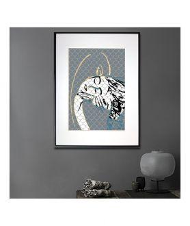 Grafika miłosna w ramie Grafika abstrakcja