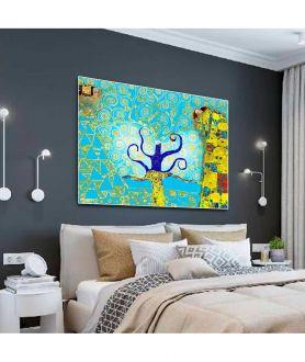 Obrazy drzewo - Obrazy art deco Drzewo Życia w turkusie