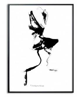 Plakat czarno biały Pocałunek czarno biały