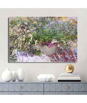Obrazy kwiaty - Obraz Lawenda dla Renoira (1-częściowy) szeroki