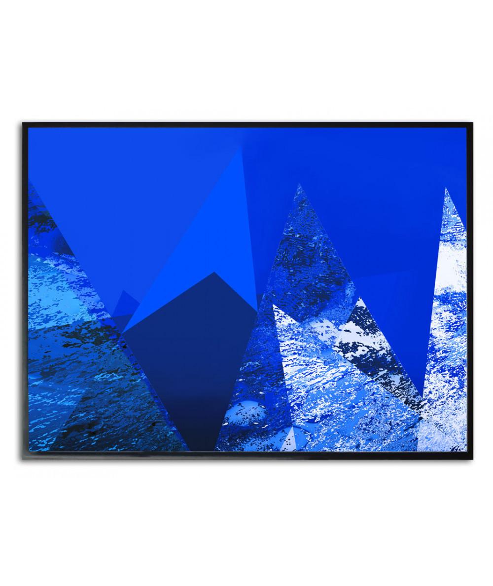 Plakat granatowy góry na ścianę Niebo w górach