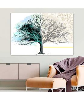 Obrazy drzewo - Obrazy nowoczesne do salonu Drzewo dnia i nocy