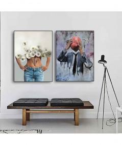 Plakat na ścianę w ramie z motywem street art - Grafiki Obrazy