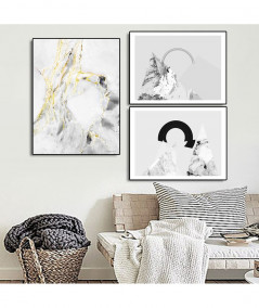 Obrazy abstrakcyjne - PLAKAT NA ŚCIANĘ - DELIKATNA ABSTRAKCJA