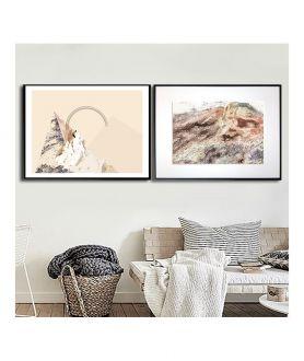 Plakaty grafiki gór na ścianę, zestaw plakatów - Grafiki Obrazy