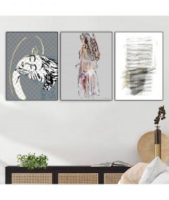 Obrazy abstrakcyjne - PLAKAT NA ŚCIANĘ - GRAFIKA ABSTRAKCJA