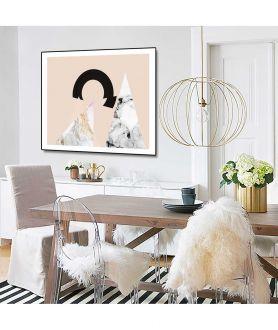 Plakat różowy Wędrowanie do słońca - Grafiki Obrazy