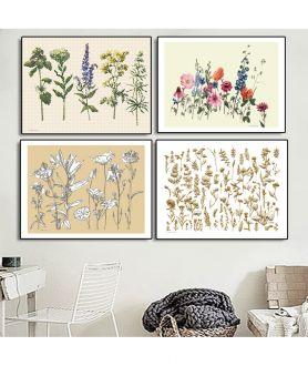 Plakaty na ścianę kwiaty - Grafiki Obrazy