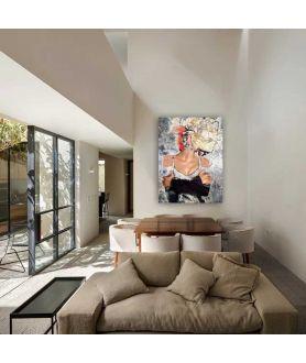 Obrazy kobieta - Obraz na płótnie na ścianę - Kobieta kwiat zmysłów