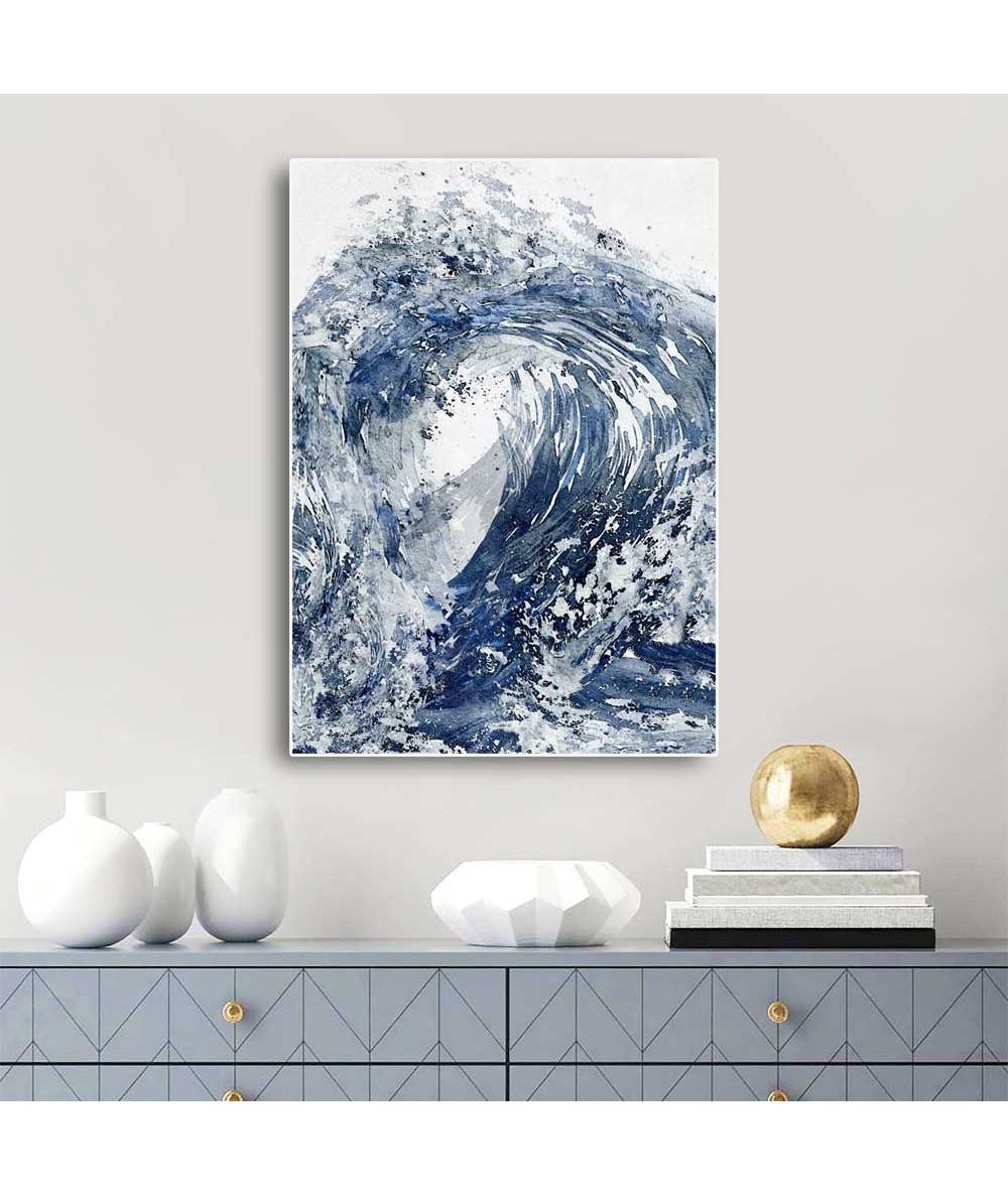 Obrazy abstrakcyjne - Obrazy abstrakcyjne niebieskie Niebieska harmonia