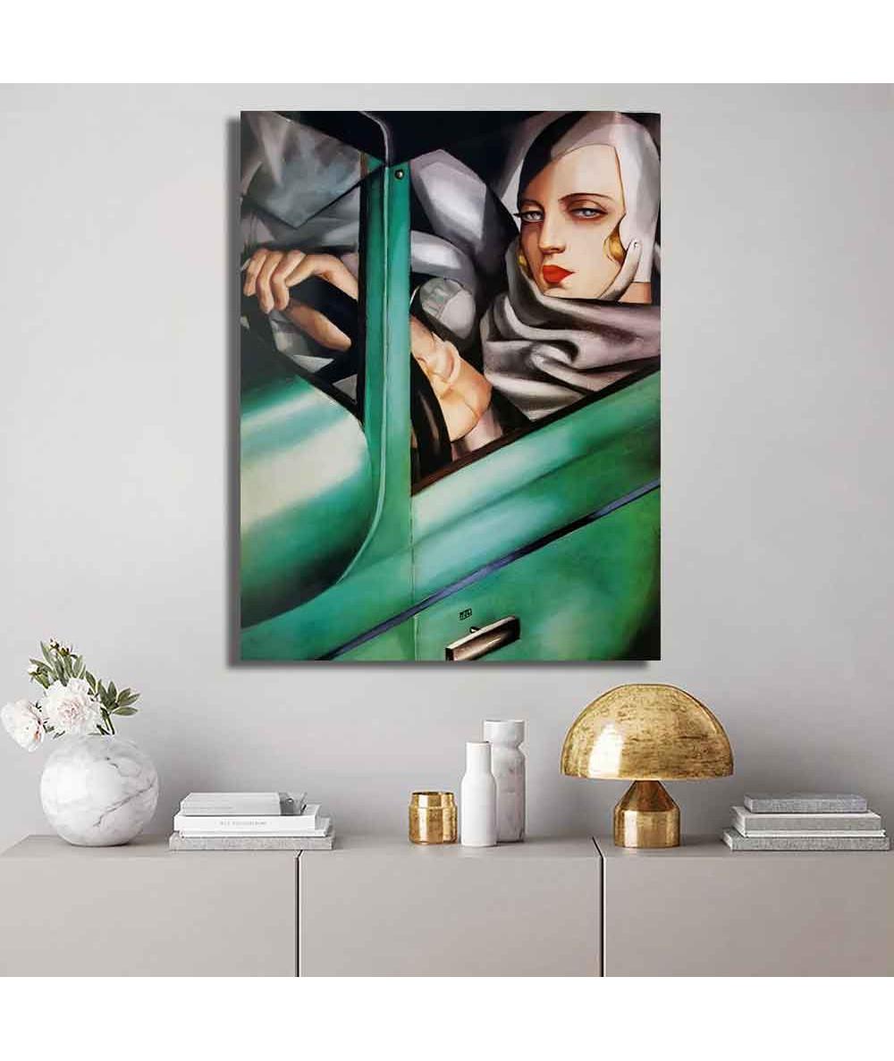 Grafiki obrazy plakaty - Obraz na płótnie - Łempicka - Autoportret Tamary