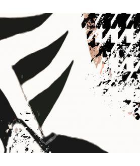 Plakat moda czarno biały Zebra w mieście