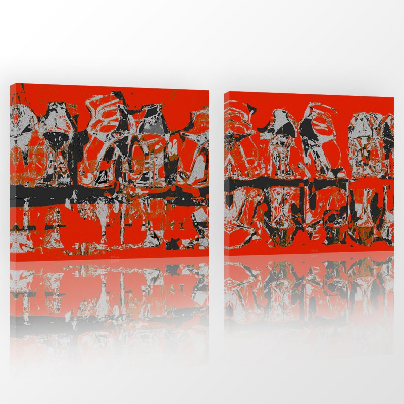 Seria obrazów ze szpilkami