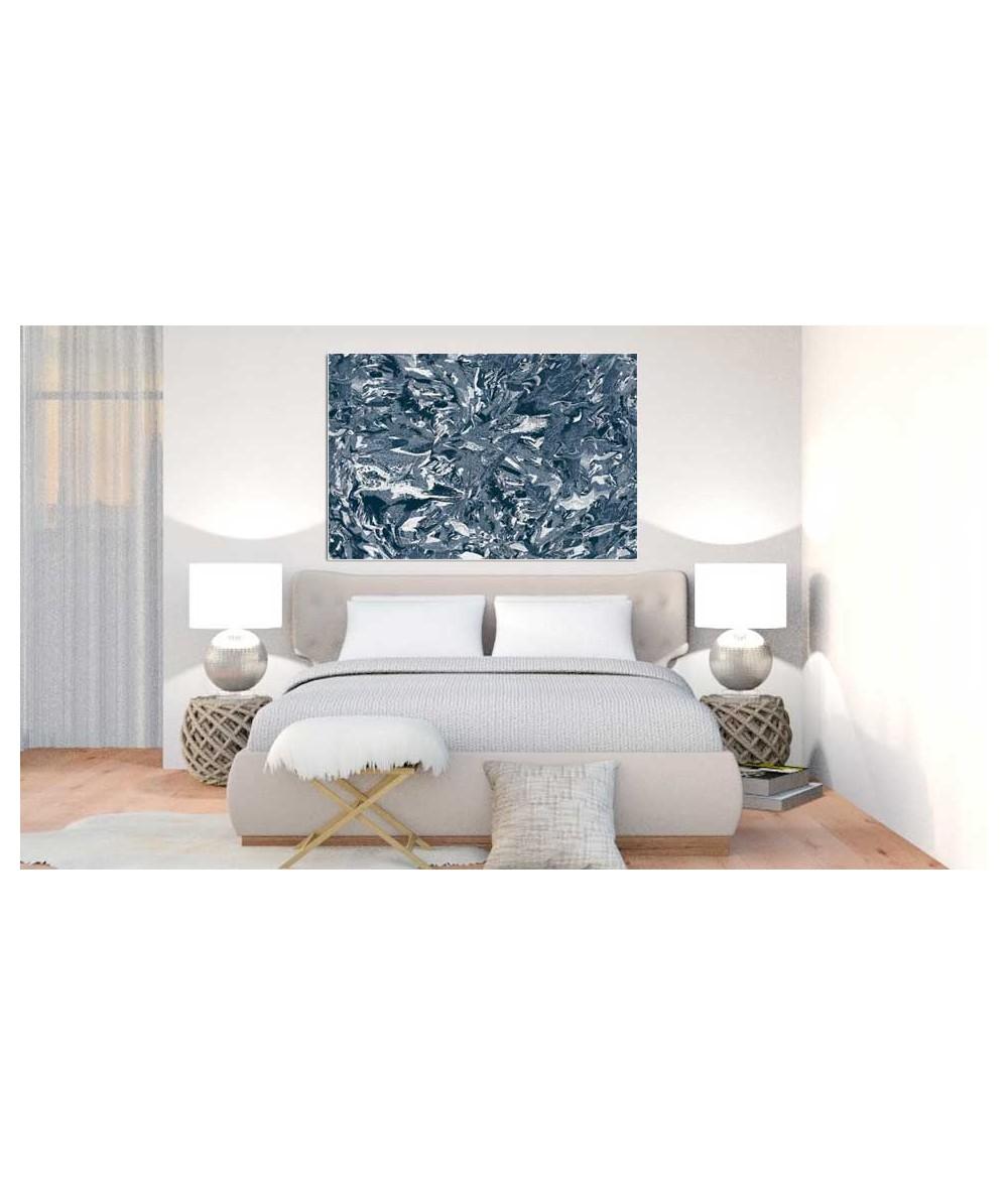 Obrazy abstrakcyjne - Obraz na płótnie Petrol inspiracja (1-częściowy) szeroki