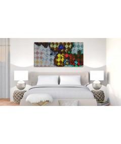 Abstrakcyjny obraz Storczyki Arlekin obraz plakat