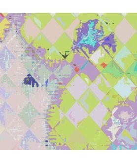 Obraz nowoczesny Romby i storczyki glamour obraz plakat