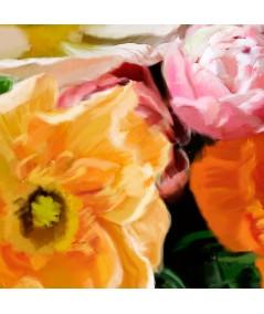 Obraz kwiaty róże Bukiet w wazonie, obraz na ścianę