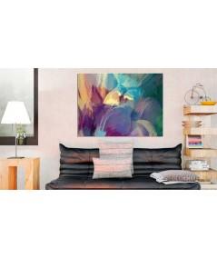 Obrazy abstrakcyjne - Obraz abstrakcja kolorowy Zachód słońca w górach