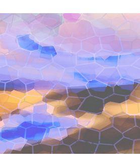 Obraz plakat nowoczesny Obraz na ścianę Abstrakcja sześciokąty powietrze