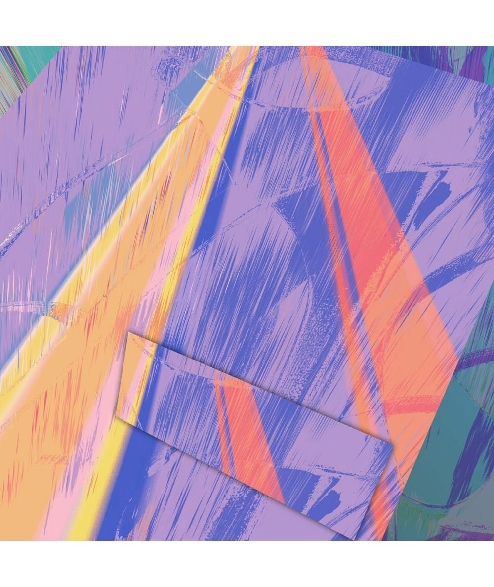 Obraz abstrakcja Iuzje miasta (1-częściowy) kwadrat