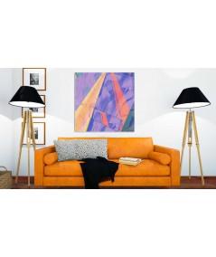 Obraz na płótnie Obraz abstrakcja Iuzje miasta (1-częściowy) kwadrat