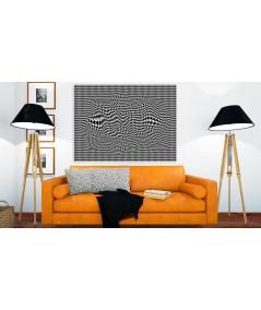 Obraz nowoczesny czarno biały 3d Pepitka flow