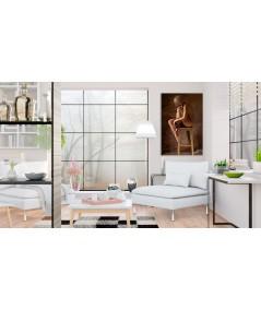Modelka i światło obraz na ścianę