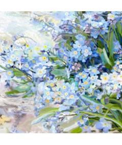 Obrazy plakaty na ścianę Obraz Kwiaty Niezapominajki w słoju