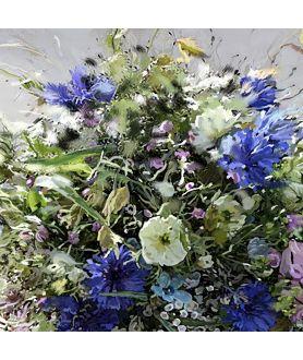 Obraz na płótnie Obraz Koszyk z kwiatami