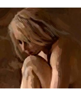Kobieta obraz na płótnie fragment