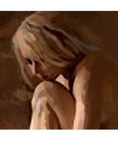Obrazy kobieta - Akt kobiecy malarstwo Modelka i światło