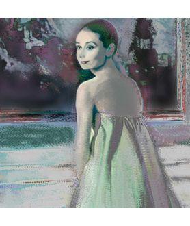 Obraz plakat współczesny Audrey Hepburn i obraz