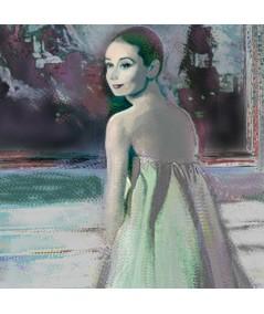Obraz na płótnie Obraz na ścianę Audrey Hepburn i obraz (1-częściowy) pionowy